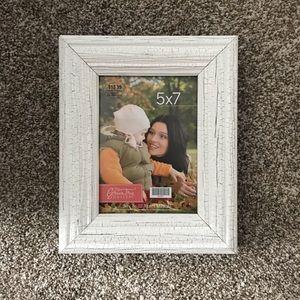 5x7 white photo frame